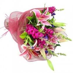 Lilies Flower Bunch