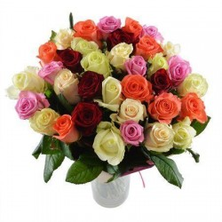 35 Mixed Roses Bunch