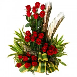 Red Roses - Step Arrangement