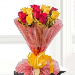 20 Red and Yellow Roses Bunch