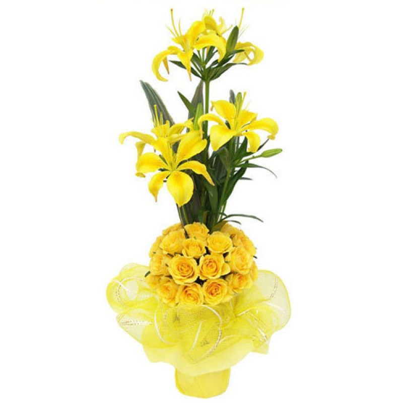 Online flower delivery in india send flowers to vizag send flowers beautiful yellow flower arrangement mightylinksfo