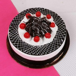 Black Forest Round Pastry Eggless Cake