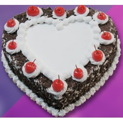 Heart Shaped Black Forest Pastry Cake