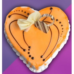 Heart Shape Butterscotch Pastry Cake