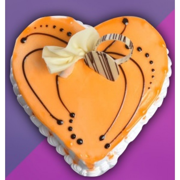 Heart Shape Butterscotch Pastry Eggless Cake