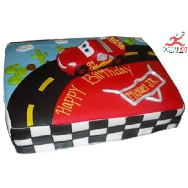 Road & Car Birthday Cake - 3Kg