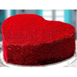 Heart Shape Red Velvet Cake - 1Kg