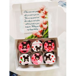 Special Birthday customized  Cup Cakes with Greeting card