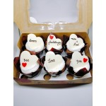 Anniversary Cup Cakes with Greeting Card