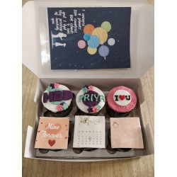 Engagement Cakes - Cup cakes with Greeting card