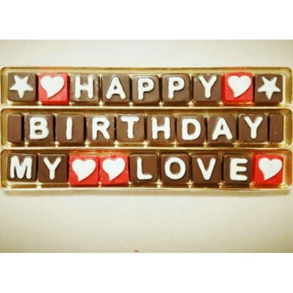 Chocolate Letter Box with Name - 150Gms