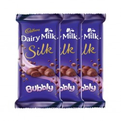 Cadbury Dairy Milk Silk, Bubbly, 120g (Pack of 3)