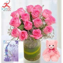 Flowers and Soft Toy