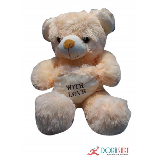 Ultra Teddy Soft Toy with Love - 16.5 inch