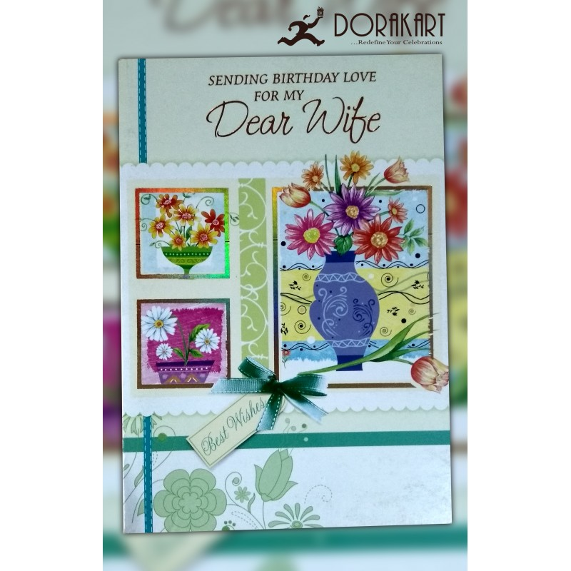 Dorakart greeting cards online greeting cards delivery greeting sending birthday love for dear wife greeting card m4hsunfo