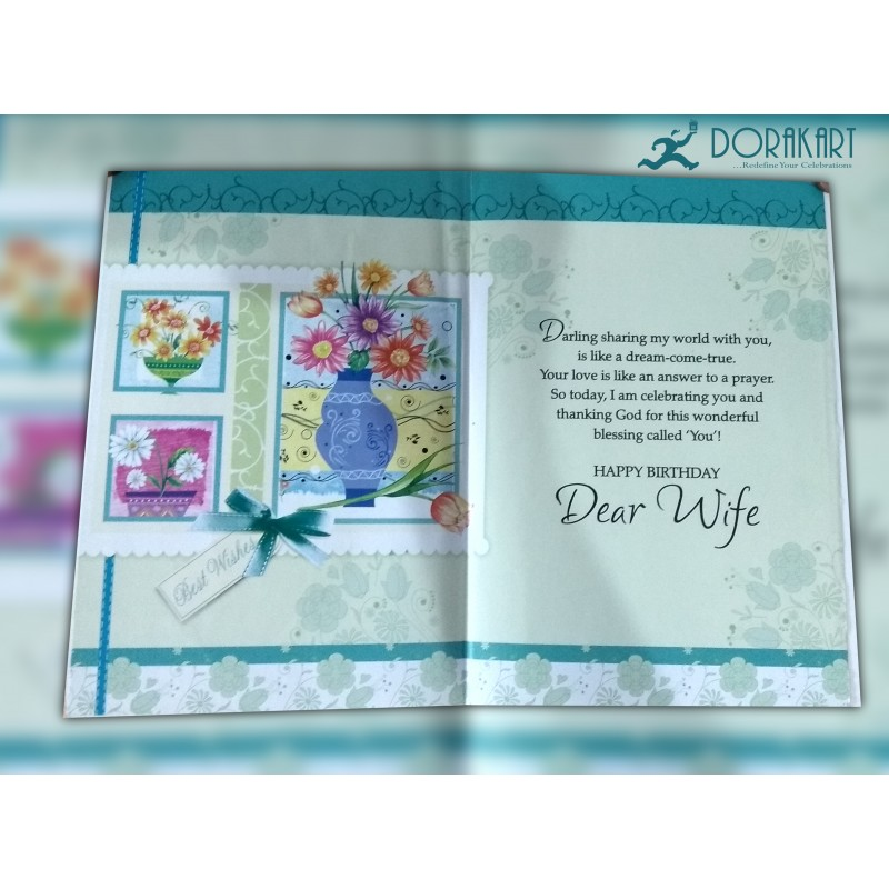 Dorakart greeting cards online greeting cards delivery greeting sending birthday love for dear wife greeting card bookmarktalkfo Gallery