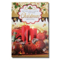Merry Christmas Greeting Card  (Multicolor, Pack of 1)