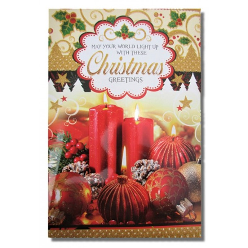 merry christmas greeting card multicolor pack of 1 - Buy Greeting Cards Online