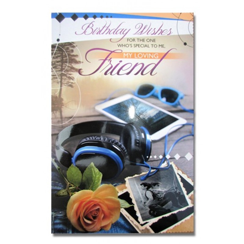 Birthday Wishes Greeting Card For Loving Friend Multicolor Pack Of 1