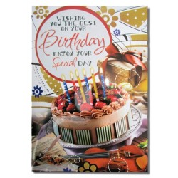 Happy Birthday Greeting Card  (Multicolor, Pack of 1)