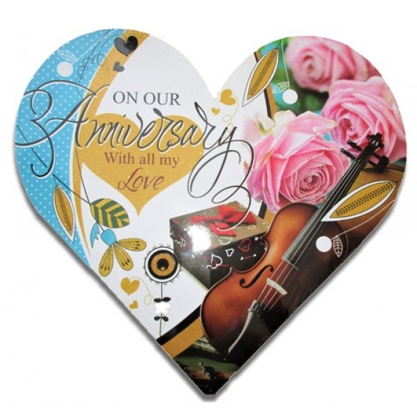 On Our Anniversary Greeting Card (Multicolor, Pack of 1)