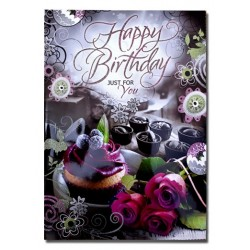 Happy Birthday Just for you Greeting Card  (Multicolor, Pack of 1)