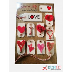 Heartful Love Greeting Card