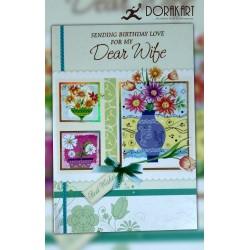Sending Birthday Love for Dear Wife - Greeting Card