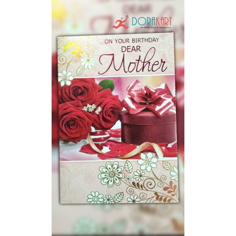 on your birthday dear mother greeting card - Buy Greeting Cards Online