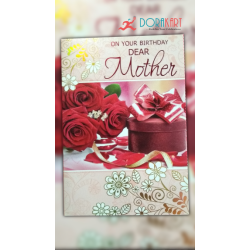 On your birthday dear MOTHER - Greeting card