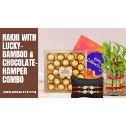 Raksha Bandhan Special Combo - Chocolates, Bombo Plant and Rakhi
