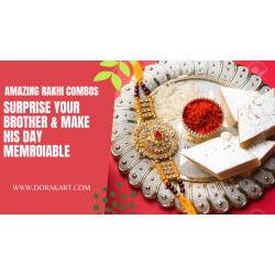 Raksha Bandhan Special Combo - Sweets and Rakhi