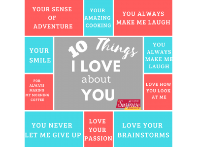Personalized 10 Things I Love About You Frame