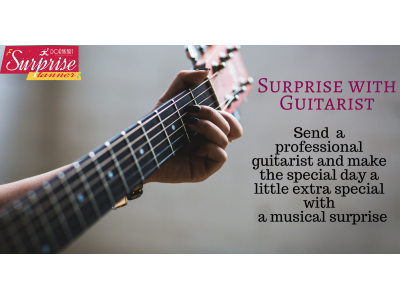 Surprise with guitarist
