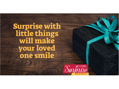 Surprise with loved things